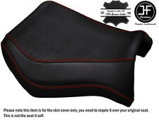 GRIP CARBON DARK RED STITCH CUSTOM FITS YAMAHA MT 03 06-14 FRONT SEAT COVER