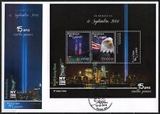 Guinea 2016 15th Memorial Anniversary Sept 11th Sheet First Day Cover