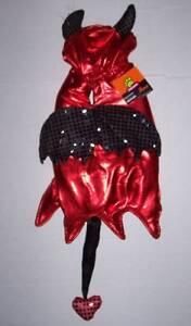 NWT Shiny Red Devil Dog Costume Size Medium Halloween