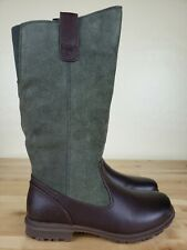 Bogs Bobby Tall Waterproof Boots Womens Size 5.5 Green Brown Leather New