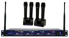 Vocopro Uhf-5805-4 Rechargable Wireless 4-Ch Handheld Microphone System w/Case