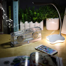 Clear Bluetooth Wireless Speaker Stereo Super Bass Sound Box Portable Crystal