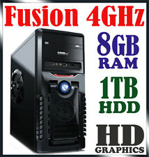 AMD 4GHz Dual Core 8GB RAM 1TB HDD 7300 Gaming Computer Desktop PC bt Quad i5 i7