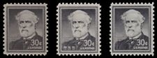 1049 1049a 1049b Robert E. Lee 30c Liberty Issue Variety Set of 3 MNH - Buy Now