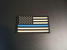 "FORWARD USA THIN BLUE LINE IR solasX PATCH 3.5""X2"" WITH VELCRO® BRAND FASTENER"