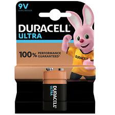 9V DURACELL Ultra Power Duralock Battery PP3  MX1604 6LR61  Smoke Detectors