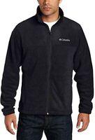 Mens Columbia Steens Mountain Fleece Full Zip Jacket Large Black Zipper Pockets