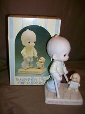 Enesco Precious Moments 115479 Blessed Are They That Overcome Easter Seals 1987