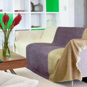 Alpaca Wool Throw Blanket Fringe Soft & Warm for Comfort & Style QUEEN 95x65 in