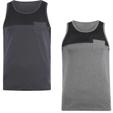 Mens Vest Dissident New Summer Casual Pure Cotton Round Neck Singlet Tank Top