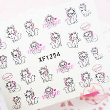 Princess Marie Cat fashion nail tattoo stickers water transfer decals manicure