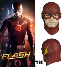 The Flash Allen Helmet Halloween Full Face Latex Mask Helmet Hood Cosplay Props