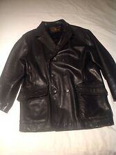 Avirex Officer's O'Coat Field Leather Jacket Large.