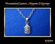 Buddha Head Necklace Pendant Tibetan Silver Birthday Christmas Gift Buddhism