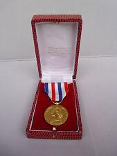 Ancienne Médaille d'honneur des chemins de fer en Vermeil 1972 écrin / Argent