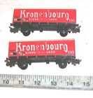 2 X JOUEF HO Kronenbourg Advertising Beer Reefer Refigerator Cars Made in France