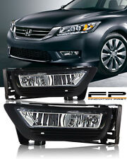 For 2013-2015 Honda Accord Sedan 4Dr Clear Fog Light Driving Lamp Complete Kit