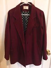 korean fashion winter jacket red coat women juniors