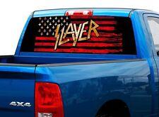 Slayer thrash metal america US flag Rear Window Graphic Decal Sticker Truck SUV