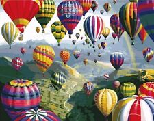 DIY Canvas oil Painting Paint By Numbers Hot Balloon Kit Include Colours+brush