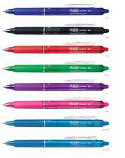 8 Pack Pilot Frixion Ball Clicker 0.7 Retractable Erasable Pen Colour