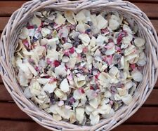 Natural Biodegradable Wedding Confetti Natural Grey Pink Ivory Flutter Petals 1L