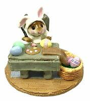Wee Forest Folk Mousie's Egg Factory Easter Edition White Bunny M-175 With Box