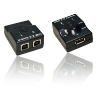 USB 2.0 Manual Switch for Sharing/Share Printer Scanner Camera Split Cable Lead