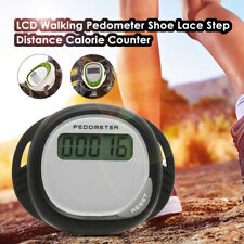 LCD Digital Step Pedometer Walking Calorie Counter Distance Shoe Belt Clip P1F2