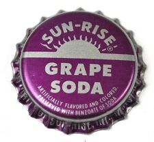 Sun-Rise Grape soda tapita estados unidos Bottle Cap plástico sellado
