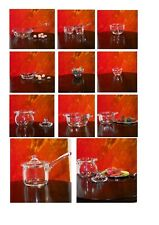 12th Scale Hand Made Glassware / Dolls House Accessories - Glass Kitchen Utensil