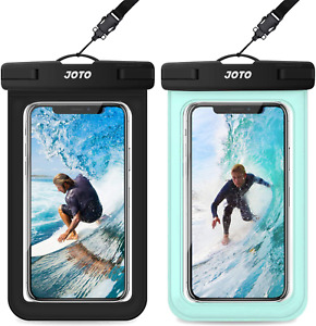 [2 Pack] JOTO Waterproof Phone Pouch Case, IPX8 Underwater Dry Bag for iPhone 12