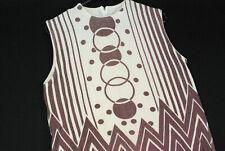 Vintage 70s GEOMETRIC Mod Terry Cloth Sleeveless Shirt Blouse Mod Gogo Hipster