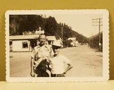Vintage Original Saltese, Montana Photo with Standard Oil Sign & Roger's Cabins