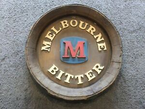 MELBOURNE BITTER WALL HANGING, PRETEND BARREL TOP, PERFECT FOR THE MAN CAVE