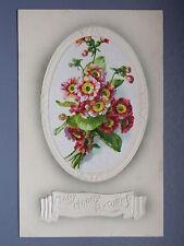 R&L Postcard: Embossed Birthday Flower Design, BB