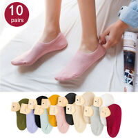 5-10 Pack Cotton Women Ankle No Show Loafer Boat Socks Multicolor Sports Low Cut