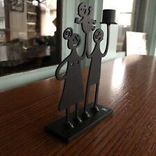 Bengt & Lotta Iron Family Candleholder Small Black Steel Sweden