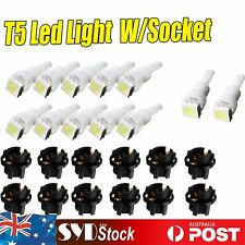 12 x T5 5050 SMD LED Light Bulbs W/ Sockets Wedge Base For Instrument Dash Board