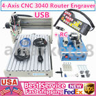 4 Axis USB CNC 3040T Router 3D Engraver Engraving Drilling Milling Machine + RC