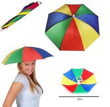 Novelty Umberella Sun Hat Sun Rain Protection Headgear Golf Dad One Size For All