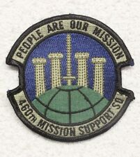 USAF Air Force Patch: 460th Mission Support Squadron - subdued