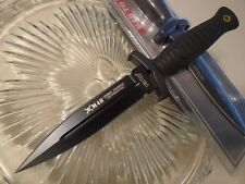"M48 Combat Toothpick Black Titanium Dual Edge Dagger Knife Aus-8 9 1/2"" OA 2998"