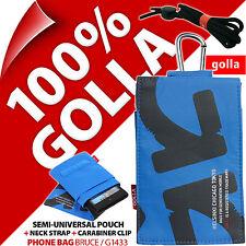 Golla Blu Custodia Pochette Telefono Sacchetto per iPhone 4S 5S SE