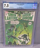 GREEN LANTERN #76 (Neal Adams art, 1st Green Arrow Team-Up) CGC 7.5 VF- DC 1970