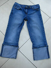 LADIES womens DOROTHY PERKINS cropped STRETCH JEANS size UK 10 distressed