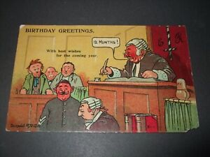OLD DONALD MCGILL COMIC COURT JUDGE BIRTHDAY GREETINGS 12 MONTH SENTENCE LEGAL