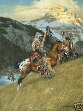 """Blackfoot Raiders"" Frank McCarthy Fine Art Anniversary Giclee Canvas"