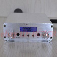15W 88-108MHz PLL broadcast radio station FM transmitter+Power supply+GP antenna