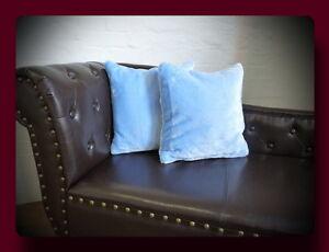 Kissen Kissenhülle Dekokissen im Glanz - Design Farbe blau / hellblau